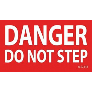 Replacement Label, Danger Do Not Step