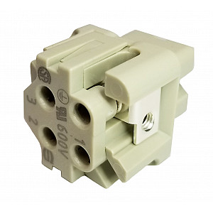 Industrial Connector, 2X2, 4 Pin