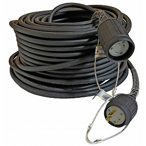 Finished Power Cord Set, 250', 10/3, SOOW, 20A Plug/Connector/Boots/Kellems